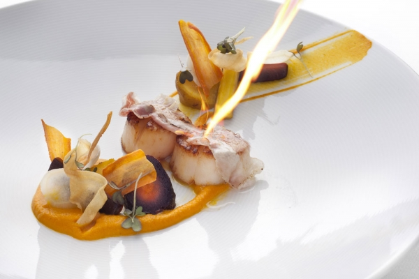 Radisson Blu Alcron hotel, Alcron - Seared sea scallop