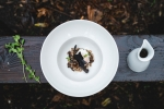 Benjamin - Kuba, chantarelle, trumpet mushroom, poached egg, beer